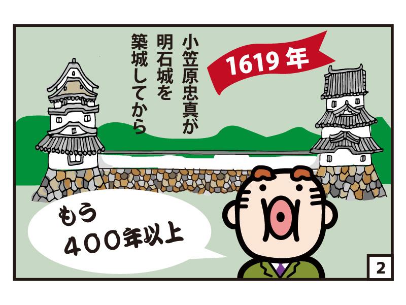 1619年 小笠原忠真が明石城を築城してからもう400年以上