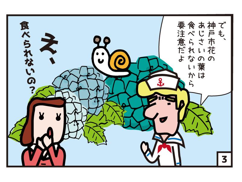 でも、神戸市花のあじさいの葉は食べられないから要注意だよ え、食べられないの?
